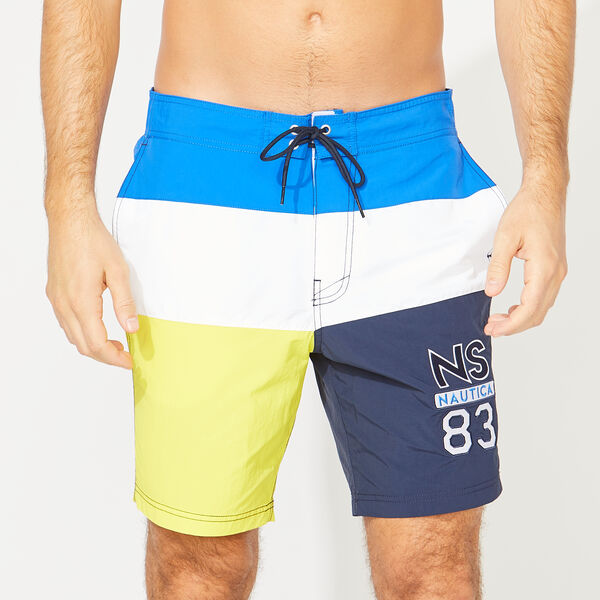 "8"" NS-83 COLORBLOCK SWIM TRUNKS - Lapis"