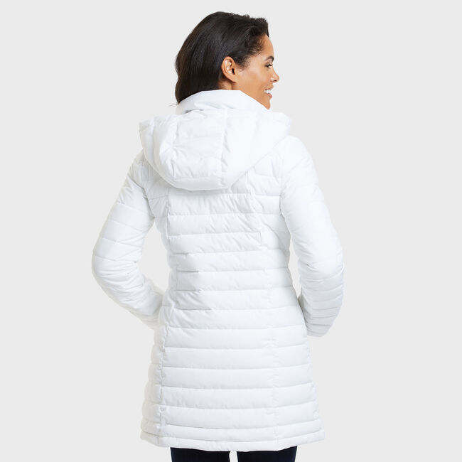 Stretch Midweight Puffer Jacket,Bright White,large