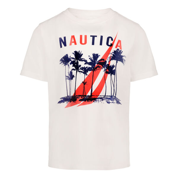 TODDLER BOYS' PALM TREE GRAPHIC T-SHIRT (2T-4T) - Antique White Wash