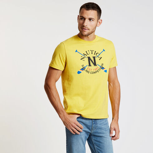 Crossed Oars Signature Tee - Knot Yellow