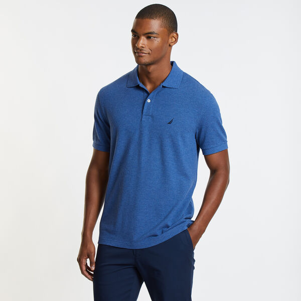 Classic Fit Mesh Polo - Deep Sea
