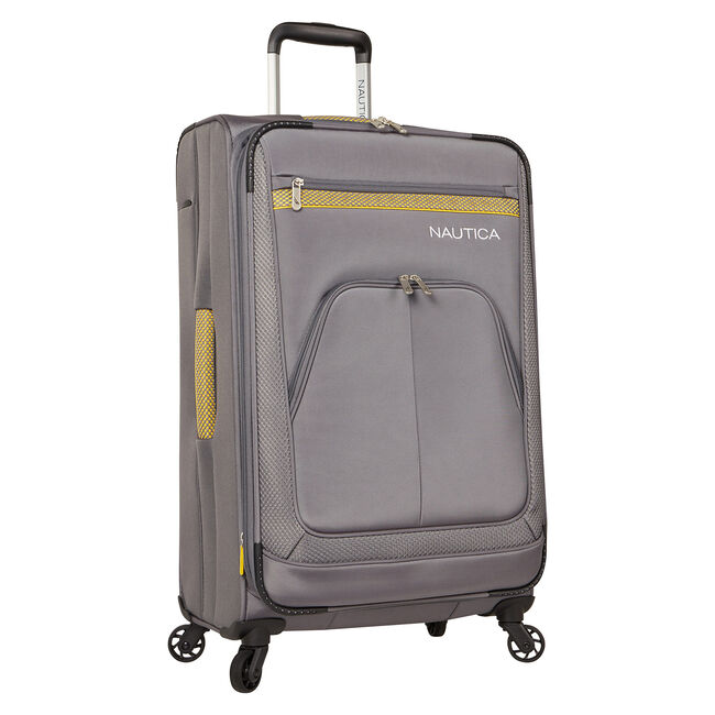 "Brooklyn Bay 25"" Expandable Spinner Luggage,Grey Heather,large"