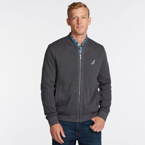 CLASSIC FIT J-CLASS BOMBER JACKET - Charcoal Heather