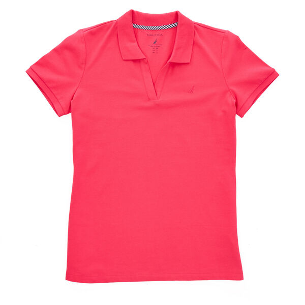 Split-Neck Classic Fit Polo Shirt - Shore Rose
