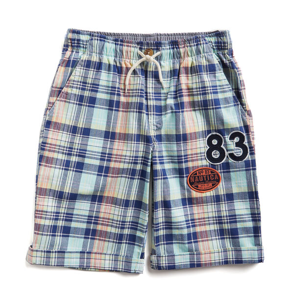 TODDLER BOYS' CHARLIE SHORT IN MULTICOLOR PLAID (2T-4T) - Cargo Green