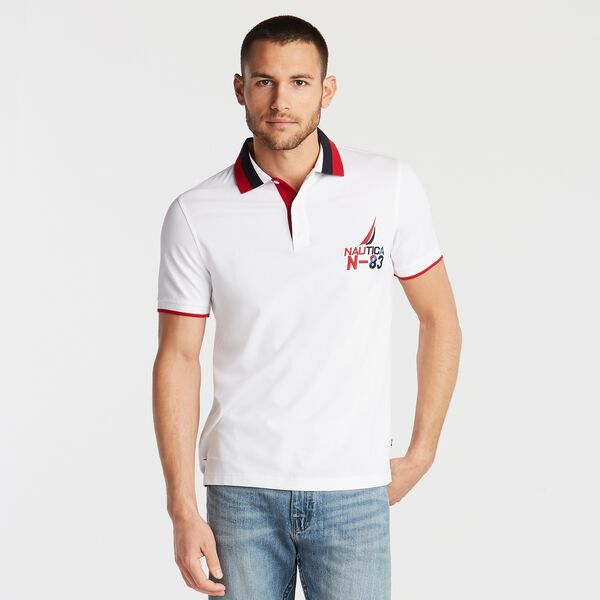 SLIM FIT TIPPED POLO - Bright White