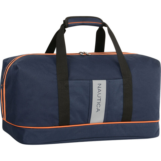 Gennaker Dual Stripe Duffel,Ice Blue,large