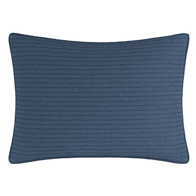 Lockridge Quilted Throw Pillow,Navy,large
