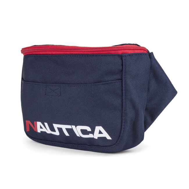 Racer Logo Belt Bag in Navy Blue,Navy,large