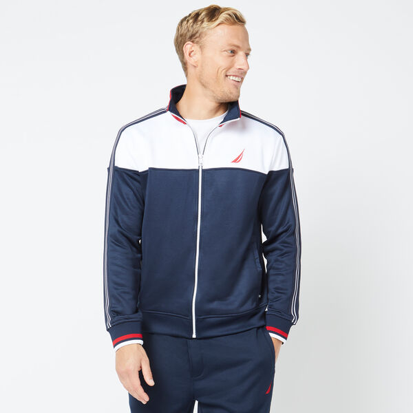 COLORBLOCK TRACK JACKET - Navy
