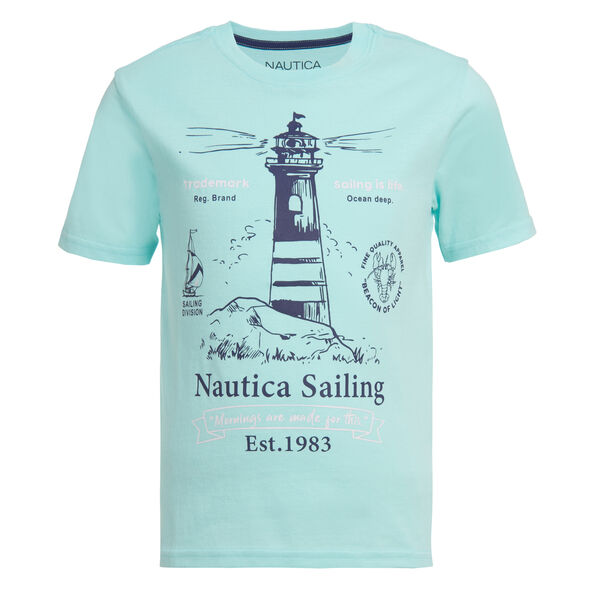 BOYS' LIGHTHOUSE GRAPHIC T-SHIRT (8-20) - Azure Blue