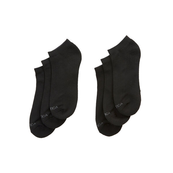 Athletic Core Low Cut Socks, 6-Pack - Black