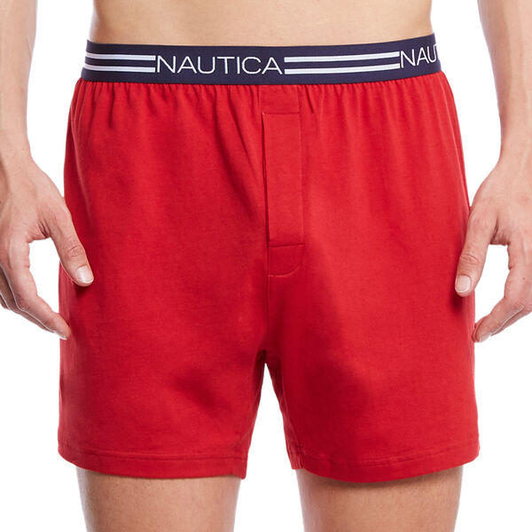 Red Solid Knit Boxers - Nautica Red