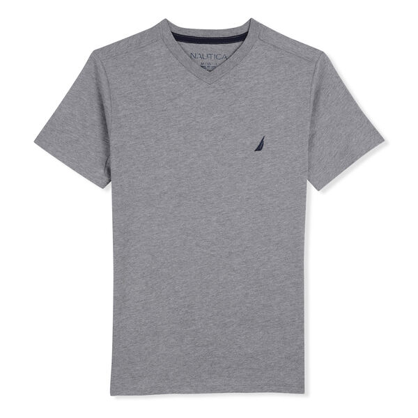 BOYS' CHANNEL SPACE HEATHERED T-SHIRT - Grey Heather
