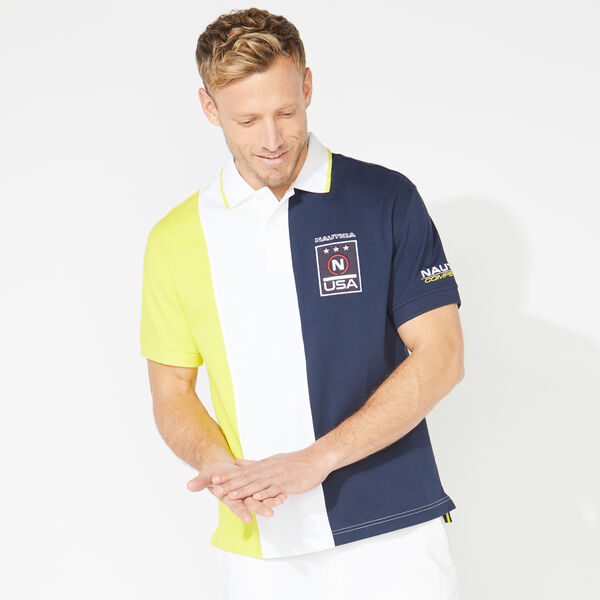 COMPETITION COLORBLOCK POLO - Bright White