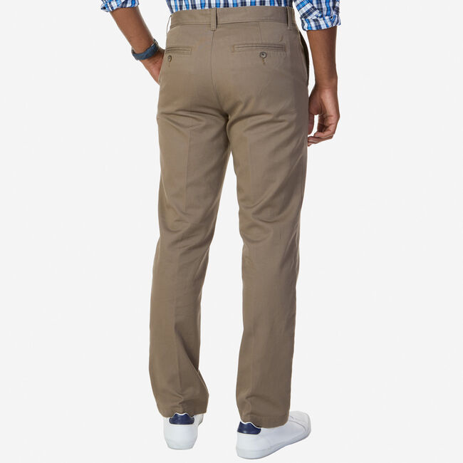 Flat Front Classic Fit Pants,Truffle,large