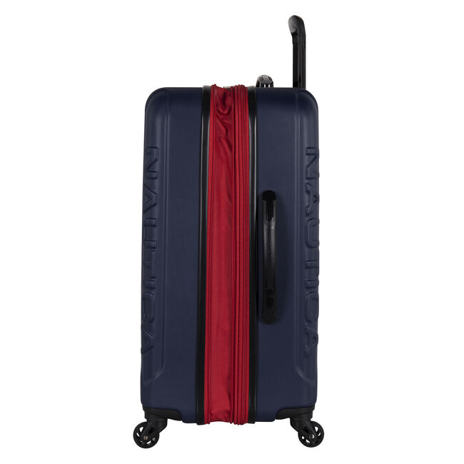 Vernon Bay Hardside Spinner Luggage in Navy/Red,Navy,large