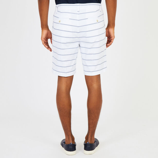 "Oxford Stripe Stretch Twill Walking Shorts - 8.5"" Inseam,Bright White,large"