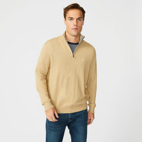 NAVTECH QUARTER-ZIP SWEATER - Dark Otter