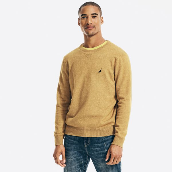 SUSTAINABLY CRAFTED CREWNECK SWEATER - ALL SPICE