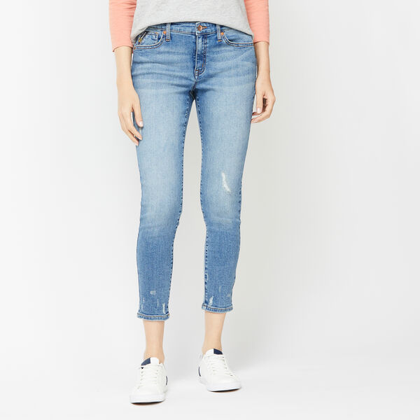 NAUTICA JEANS CO. MID RISE SKINNY DENIM IN ALPINE BLUE WASH - Aquasplash