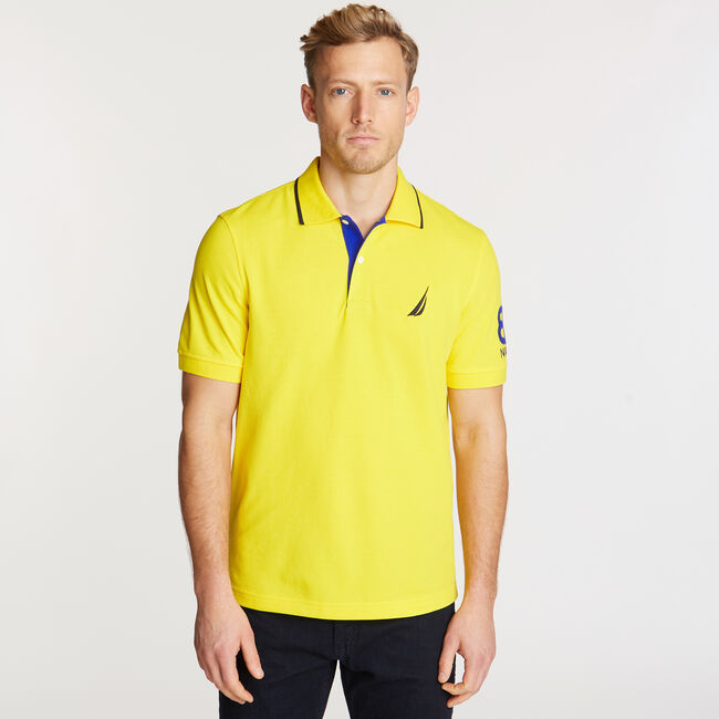 Logo Classic Fit Polo,Pulp Yellow,large