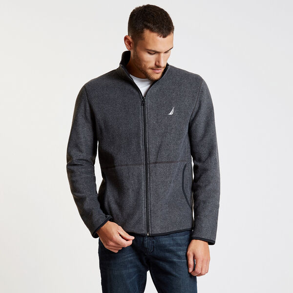 Nautex Full-Zip Fleece - Charcoal Hthr