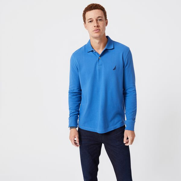 CLASSIC FIT LONG SLEEVE POLO - Nite Sea Heather