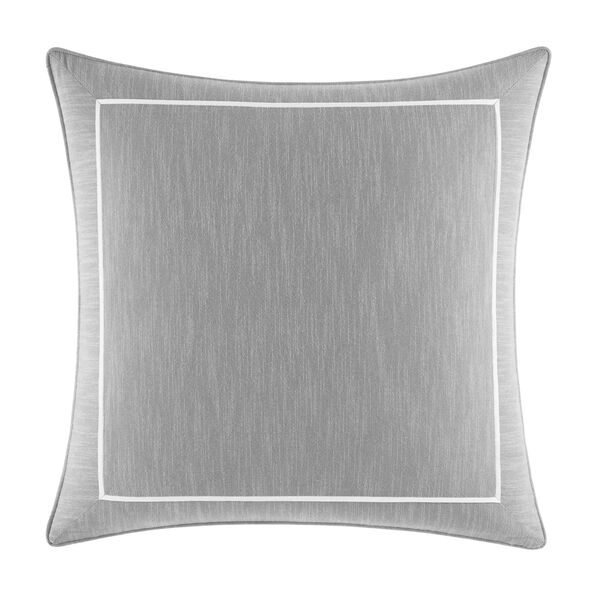 Bronwell Light Grey European Sham - Grey Heather