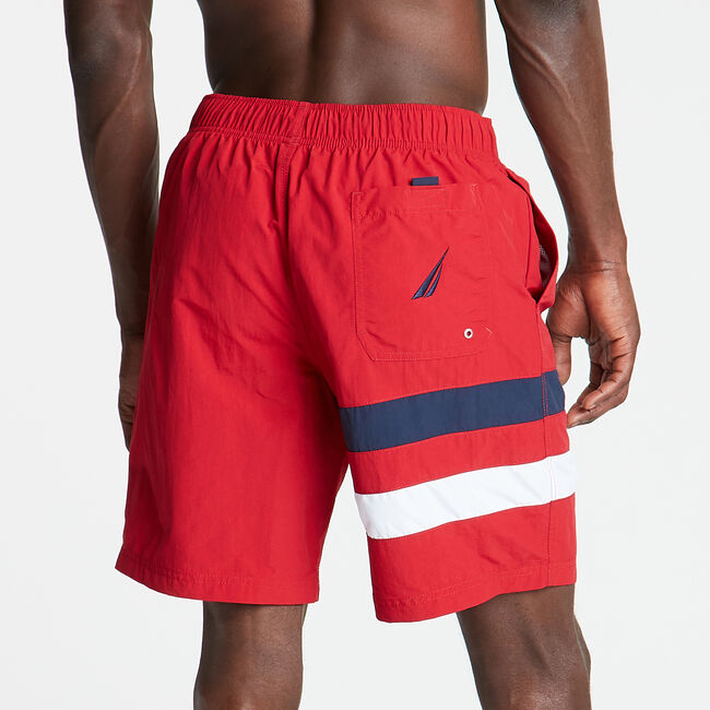 "8"" HERITAGE SWIM TRUNK,Nautica Red,large"