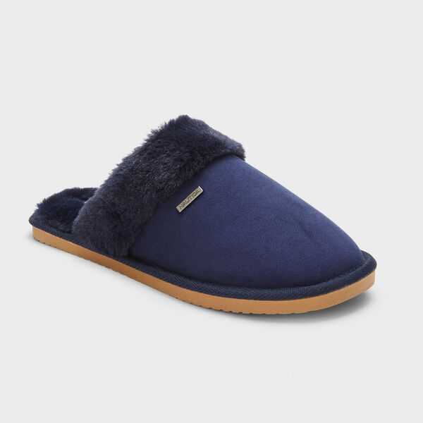 SOMERSBY SUEDE SLIPPERS IN MAUVE - Navy