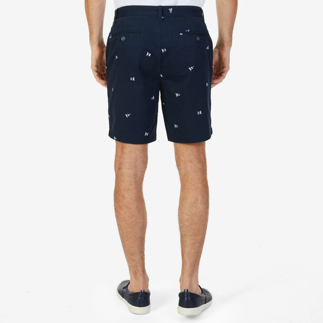 Big & Tall Sailing Flags Classic Fit Shorts,True Navy,large