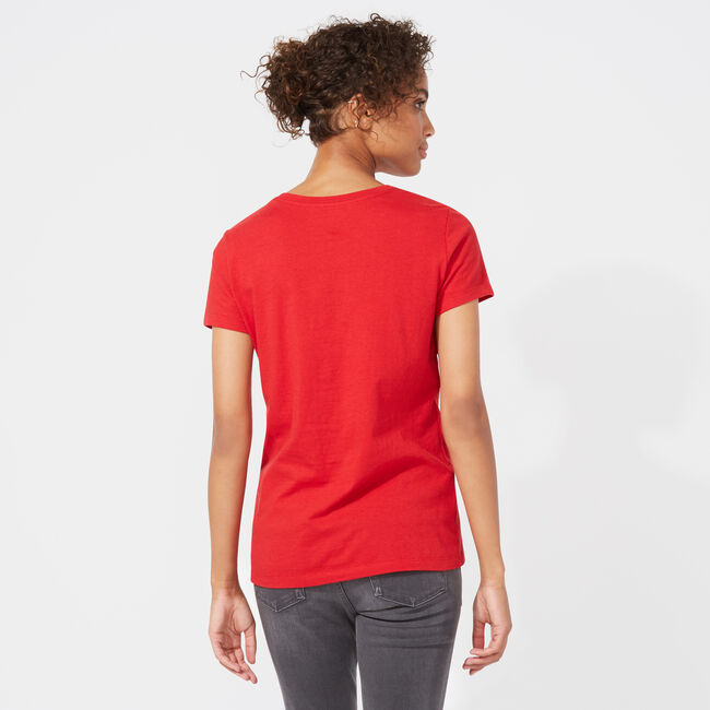 NAUTICA REPEAT JCLASS GRAPHIC TEE,Cranberry,large