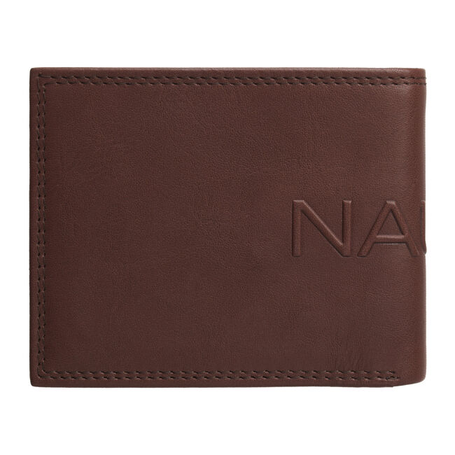 Laguna Fixed Bifold Passcase Wallet,Brown,large