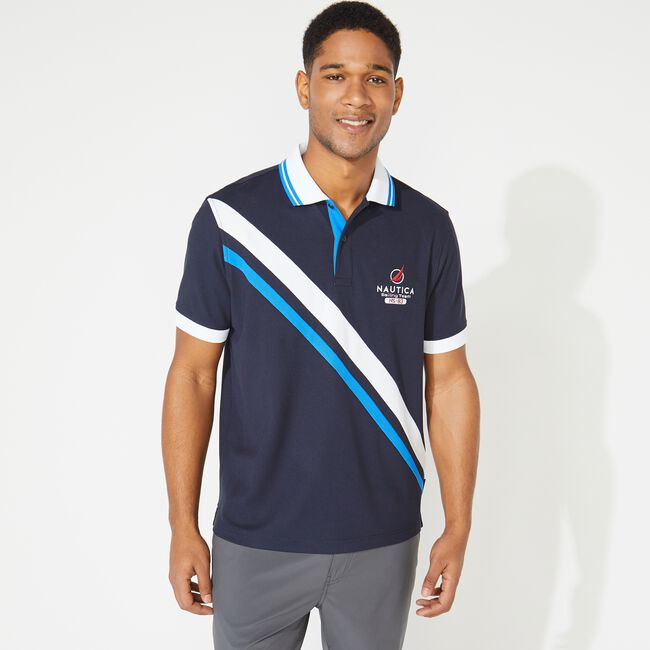 CLASSIC FIT NAVTECH SASH GRAPHIC POLO,Navy,large