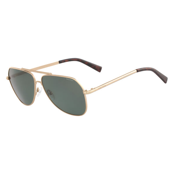 Aviator Sunglasses with Matte Frame - Light Gold