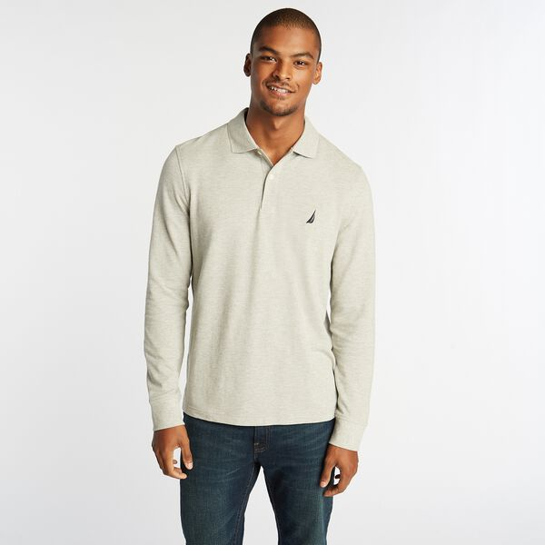 CLASSIC FIT J-CLASS LONG SLEEVE POLO - Grey Heather