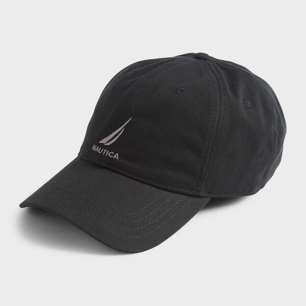 J-CLASS EMBROIDERED CAP - True Black