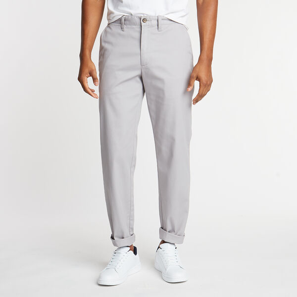 CLASSIC FIT FLAT FRONT PANTS - Grey Alloy