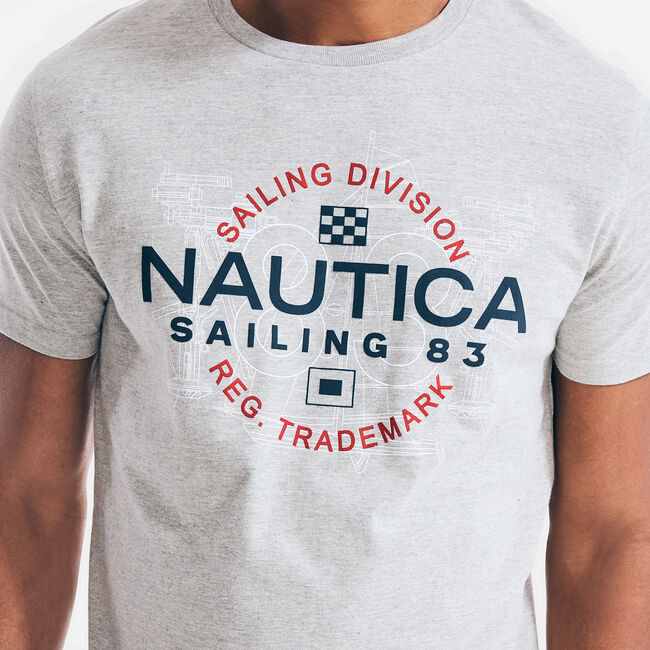 SAILING DIVISION GRAPHIC T-SHIRT,Grey Heather,large