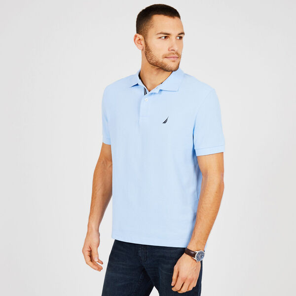 a846ec3cf8faa Short Sleeve Classic Fit Performance Deck Polo - Washed Navy Heather