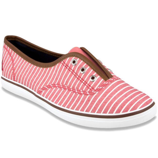 Fiddley Striped Slip-On Sneakers,Buoy Red,large