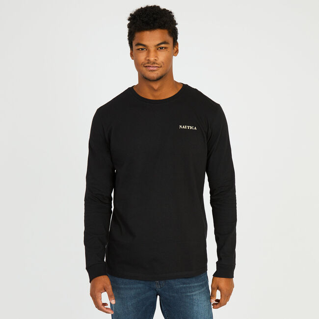 Long Sleeve Anchor Top,True Black,large