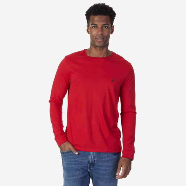 CREW NECK LONG SLEEVE TEE - Nautica Red