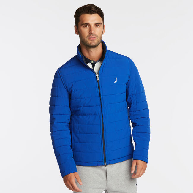 STRETCH REVERSIBLE PUFFER,Workshirt Blue,large
