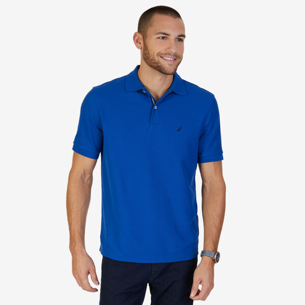 Short Sleeve Performance Deck Polo Shirt  - Monaco Blue