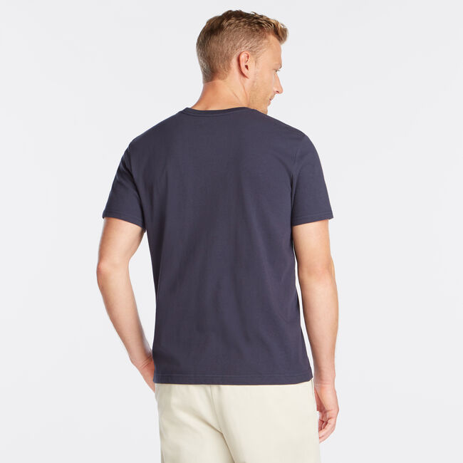SAILING SUPPLY FLAG GRAPHIC TEE,Pure Dark Pacific Wash,large