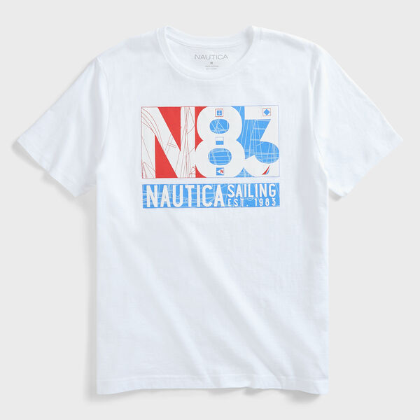 N-83 SAILING GRAPHIC T-SHIRT - Bright White