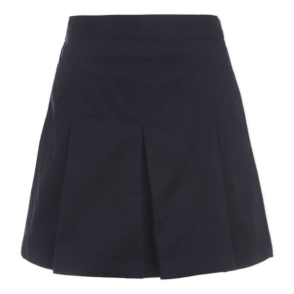 GIRLS' PLEATED SCOOTER SKIRT (PLUS SIZES) - Crystal Bay Blue
