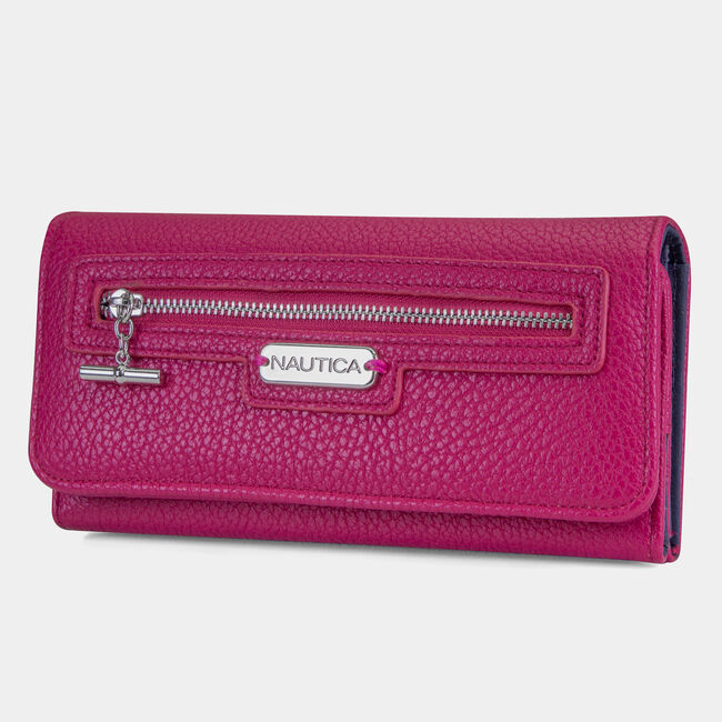 Above Board Wallet,Barely Pink,large